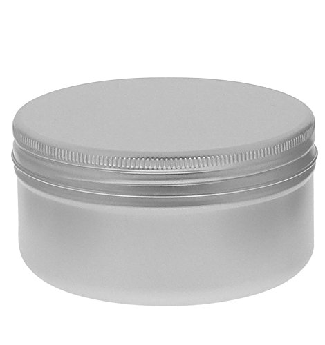 Schraubdose 250 ml, Alu-Tiegel aus Aluminium, m. Schraub-Deckel, leer, Kosmetex Aludose, Kosmetik-Dose, Cremedose, 3x 250ml 250 Ml-dose