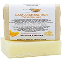 Handcrafted Solid Conditioner Bar for normal hair, 95g, very economical