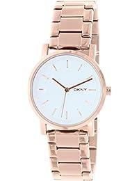 DKNY Damen-Armbanduhr Soho Analog Quarz Edelstahl beschichtet NY2344