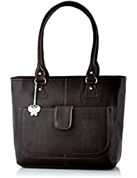 Butterflies Polyester Brown Handbag (BNS 0532 BN)