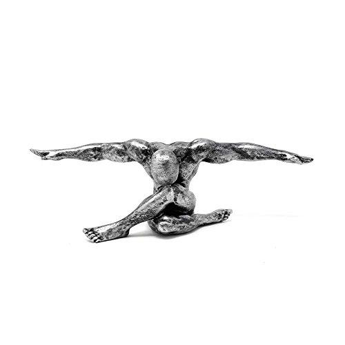Casablanca - Skulptur, Figur, Moderne Skulptur -Cliffhanger - Farbe: antik Silber - (BxHxT) ca. 33 x 11 x 10 cm