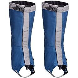 Polainas Impermeables de Nieve Polainas de Senderismo Escalada Cubiertas de Legging para Protección de Pierna al Aire Libre Senderismo Escalada Caza Trekking (Azul)