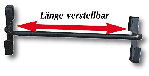 AMKA Pferdedeckenhalterung Länge VERSTELLBAR Schabrackenhalter Deckenhalter für Pferdedecken für die Box mit 2 Halter für Halfter