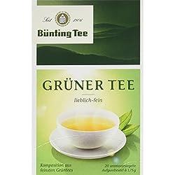 Bünting Tee Grüner 20 x 1.75 g Beutel, 4er Pack (4 x 35 g)