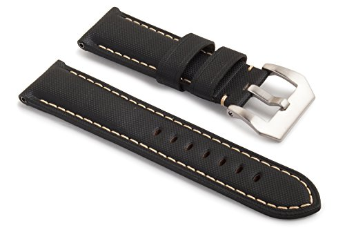 watchassassin-fabric-canvas-style-sail-cloth-pattern-white-stitch-black-watch-strap-24-22mm