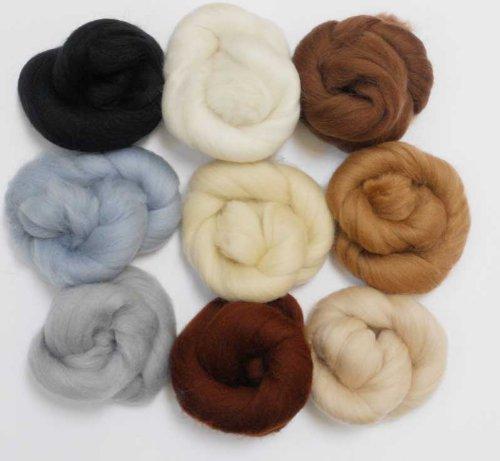 Merino Wool Tops - NEUTRAL TONES - Pack of 9