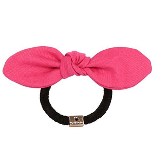 Retro Solide Couleur Rabbit Ears Bow Bands Beaux Cheveux, Tissu Hairpin C