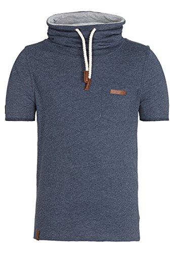 Naketano Male T-Shirt Fat Tony X Indigo Blue Melange, L