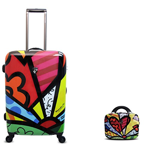 Hardside Beauty Case (PREMIUM DESIGNER Hardside Luggage set 2 pcs. - Heys Artist Britto A New Day Trolley with 4 Wheels Medium + Beauty Case 470579031&Artist&2+6)