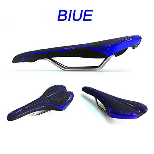 Mountain Bike Sattel Sitz MTB Road Fahrrad Sattel Comfort Kissen Pad 27* 13,5cm blau L
