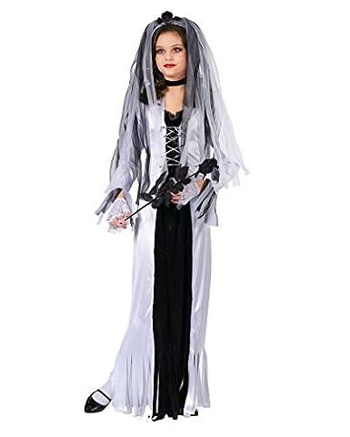 Zombiebraut Kinderkostüm L Halloween Kostüm - Faschingskostüm