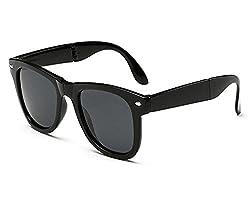 Shara UV Protected wayfarer unisex sunglasses ( Black lens)(SHA/SUNGLASSES/FOLDRED)