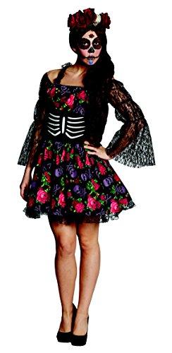 Gr. 38 Kleid La Catrina Kostüm Halloween Karneval Damen Damenkostüm Horror 13907 day of the dead (La Catrina Halloween Kostüme)