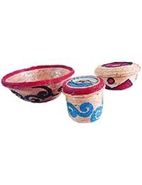 Innovative Handcrafts Jute Bowls Set (Multi-Colour)