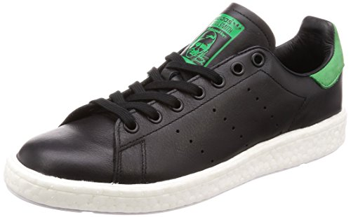 Adidas Schuhe Stan Smith Boost Herren core black-core black-green (BB0009), 43 1/3, schwarz (Smith Herren Schuhe)