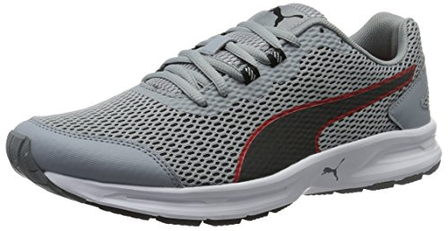 Puma Descendant V4, Zapatillas de Running para Hombre, Gris (Quarry-Puma Black-High Risk Red 07), 43 EU