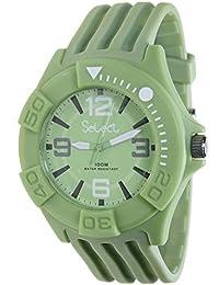 7f4a813f2fe0 Select Tc-30-16 Reloj Analogico Unisex Caja De Resina Esfera Color Verde