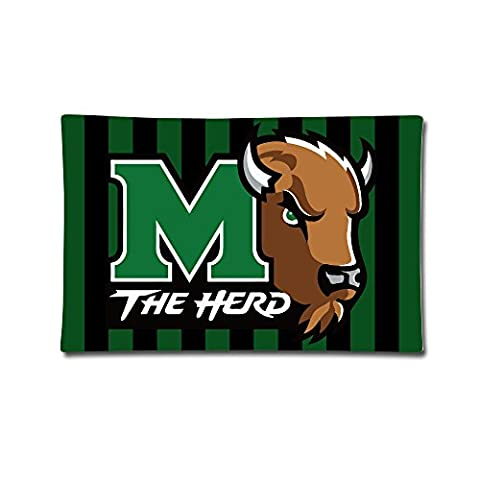 Marshall Thundering Herd Square Throw Pillow Case