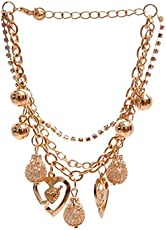 Shining Diva Fashion Gold Plated Stylish Charm Bracelet for Women/Girls