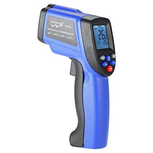 Kkmoon termometro a infrarossi senza contatto digitale con retroilluminazione, lcd laser ir, -50°c ~ 900°c, misuratore di temperatura pirometro, ° c/° f, batteria non inclusa