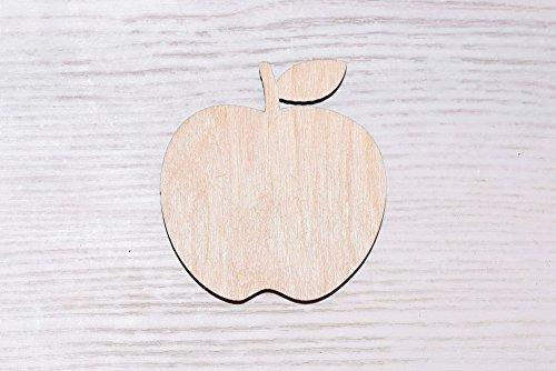 EWART WOODS 10er Set Holz Apfel Laser Cut Holz Ausschnitt Sperrholz Figur Form Holz Ornamente Basteln Vogel Dekoration Decoupage unlackiert (0046), 10 cm