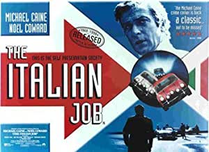 The Italian Job - UK Landscape British Huge Film PAPER POSTER measures approximately 100x70 cm Greatest Films Collection Directed by Peter Collinson. Starring Michael Caine, Noel Coward, Benny Hill. Heist, Mini Cooper, action, crime, comedy. by Posterjacks