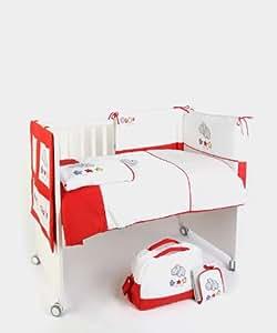 naf naf set 6 pi ces couette tour de lit couverture sac langer tapis langer hippo. Black Bedroom Furniture Sets. Home Design Ideas