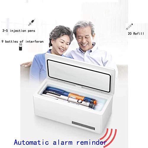 41xNfRlMgCL - Kievy Caja Refrigerada De Insulina Portátil De Gran Capacidad, Pantalla LCD Recargable 0-18 °C Coche Interferón Refrigerador Médico Mini Refrigerador Refrigerador, Camping