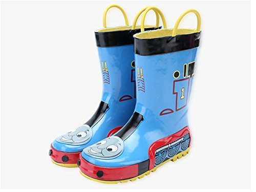 HORIZON where hopes spread Kids Boys Thomas Printed Waterproof Easy-On Rubber Rain Boots (Toddler/Little Kid) Blue