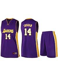 ZWXYA Lakers Jersey Male Basketball Traje de Ropa,Ingram,2XL(170-175CM