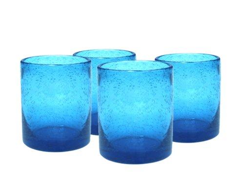 Artland Iris Double Old Fashioned Glasses, Turquoise, Set of 4 by Artland (Highball Iris)