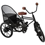 Aafiya Handicrafts Wrought Iron Home Decor Cycle Riksha