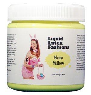 (Ammonia Free Liquid Latex Body Paint - 4oz Neon Yellow by Liquid Latex Fashions)
