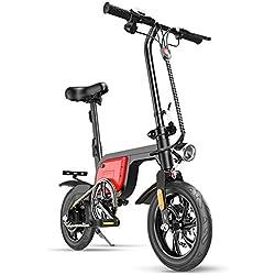 Scooter Eléctrico Mini Plegable Coche Eléctrico Bicicleta Vida Útil La Velocidad Más Alta Es 25Km / H 250W Motor Sin Escobillas Batería De Litio Plegado Rápido
