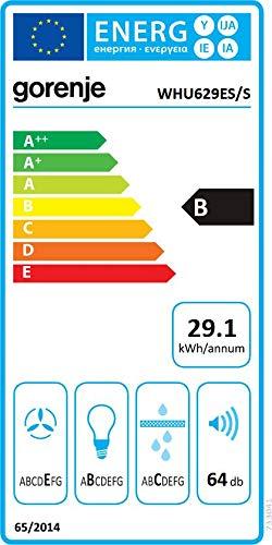 Gorenje WHU629ES/S 200 m3/h Dunstabzugshaube Edelstahl B