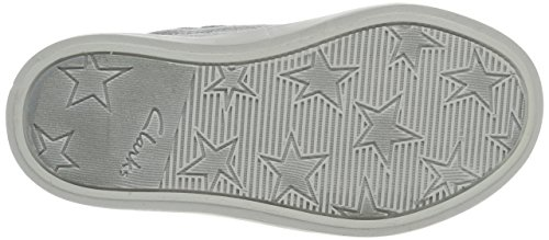 Clarks Mädchen Brill Jive Inf Low-Top Silber (Metallic Leather)