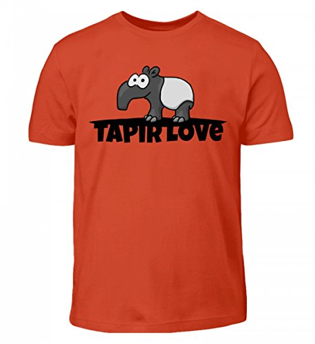 Shirtee, Lamore Per I Tapiri Dei Bambini Di Alta Qualità - Uno Per Tutti I Fan Del Grande Animale Di Questo Mondo, Lo Shit-tapiro Arancione Rosso
