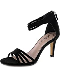 1d407cfb8cec S. OLIVER Black Label Damen High Heel Sling Sandale in schwarz mit Soft  Foam Sohle