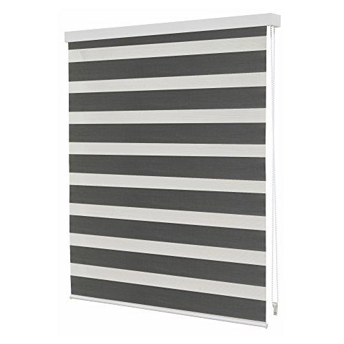 Intensions Store enrouleur jour et nuit n.206 – , Couleur Gris Foncé Moderne 90x5.5x5.5 cm gris foncé