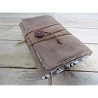 Protège livre fait main, couverture livre format poche, couvre livre en tissus simili cuir marron, cadeaux voyage, cadeau noël, cadeaux maitresse
