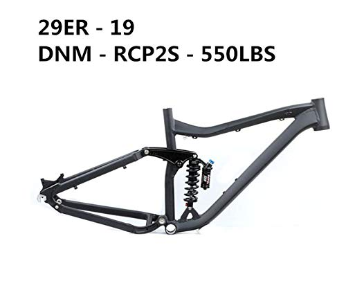 WANGYONGQI Fahrradrahmen vollgefederter Rahmen 29ER 27.5ER Mountainbike Rahmen aluminiumlegierung Mountain DH Downhill Bike zubehör,H