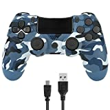 Gollec Wireless Controllers Compatible with PS 4 Play station 4 V2 Dual Shock(Blue Camouflage)
