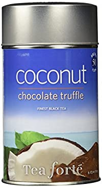 Tea Forte COCONUT CHOCOLATE TRUFFLE Loose Leaf Black Tea, 4.23 Ounce Tea Tin