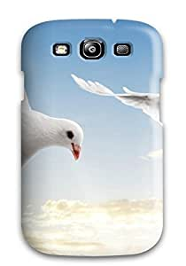 Personal design Case Cover Two White Doves/ Fashionable Case For Galaxy S3 BY buyingwz