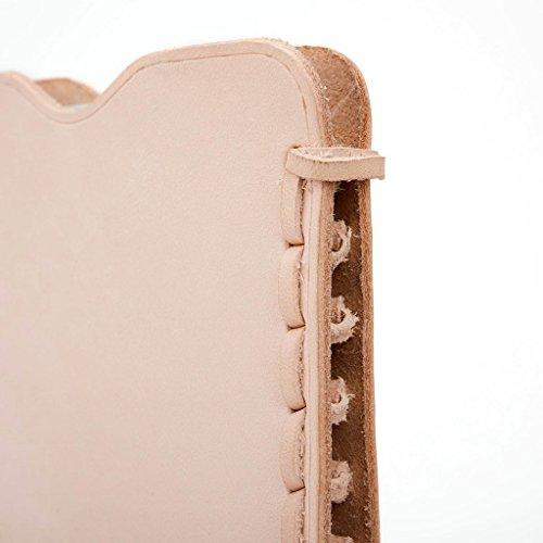 Kroo Étui ultra fin en cuir véritable pour téléphone portable HTC One Me Marron - peau Marron - peau