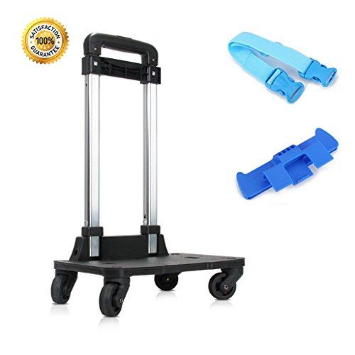 Rucksack Trolley - Rollwagen mit 360 Roll Rädern für Kinder Kinder Schultaschen, Gepäckwagen Travel Trolley mit Schnallen Straps Folding (4 Wheels)