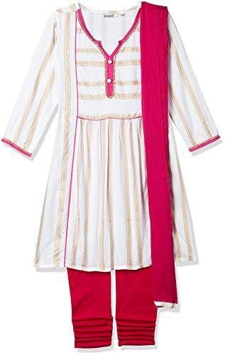Karigari Girls' Straight Regular Fit Salwar Suit (274389359_Assorted_08Y)