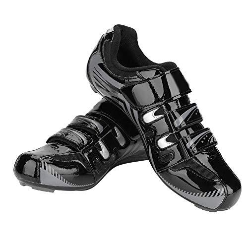 VGEBY1 1 Paio di Scarpe da Ciclismo, Sistema SPD Antiscivolo per Mountain Bike, Bici da Strada, Ciclismo, Spinning, Uomo e Adulto, Nero, 42