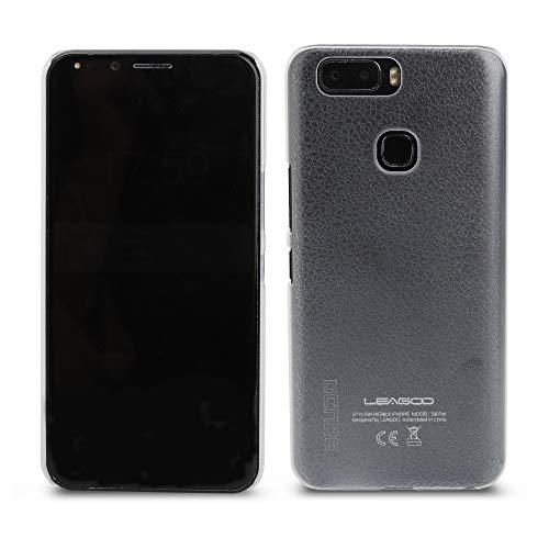 Ycloud Tasche für Leagoo S8 Pro Hülle, Gute Qualität Strukturierter Telefonkasten Hartschalen-Rückabdeckung Handy case Backcover Kunststoff-Hard Shell Handyhülle Case - Transparentes weiß