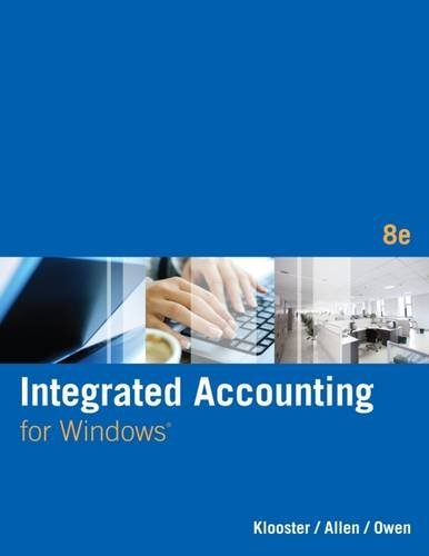 Integrated Accounting (with General Ledger CD-ROM) by Dale A. Klooster (2014-01-29)